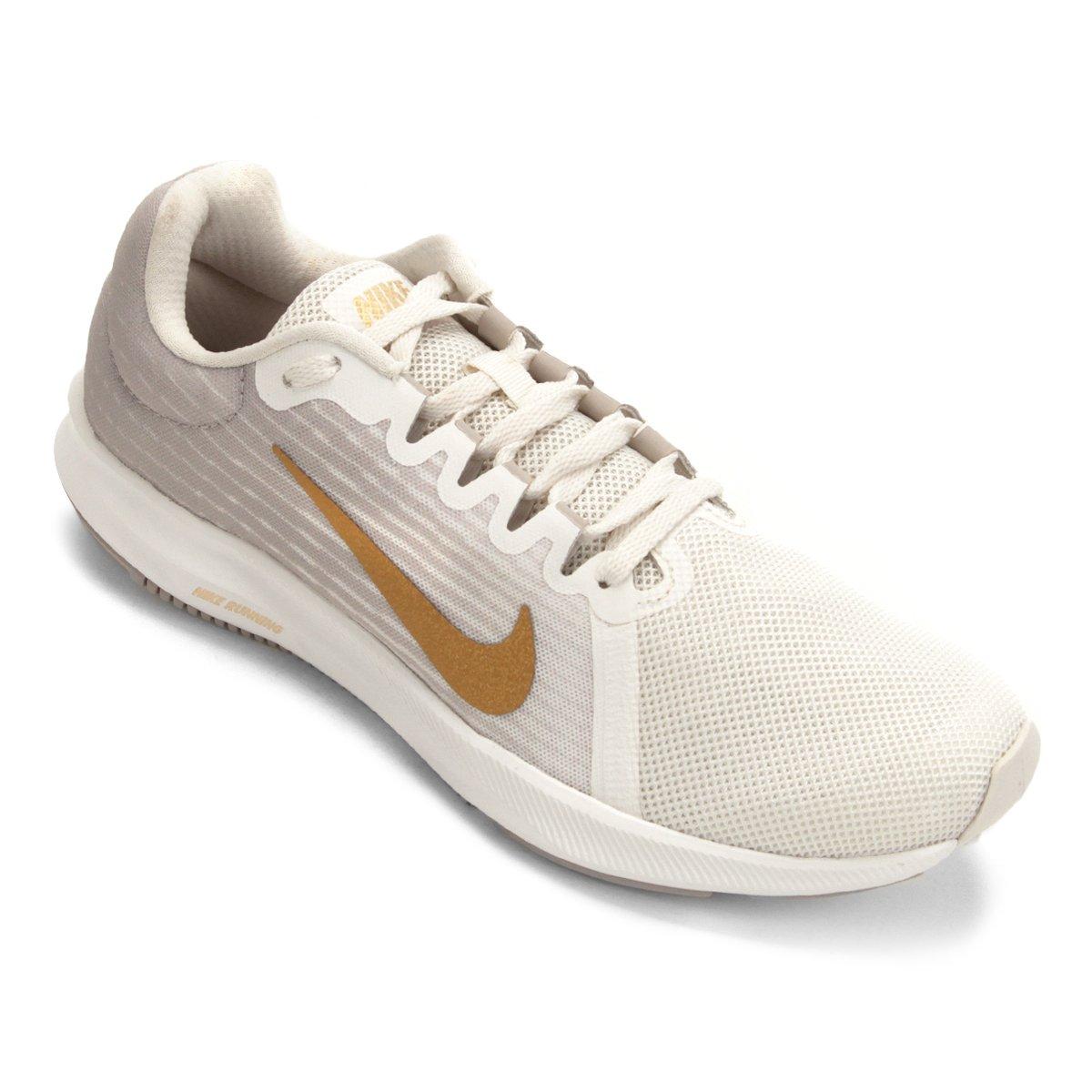 Tênis Nike Wmns Downshifter 8 Feminino Cinza E Dourado