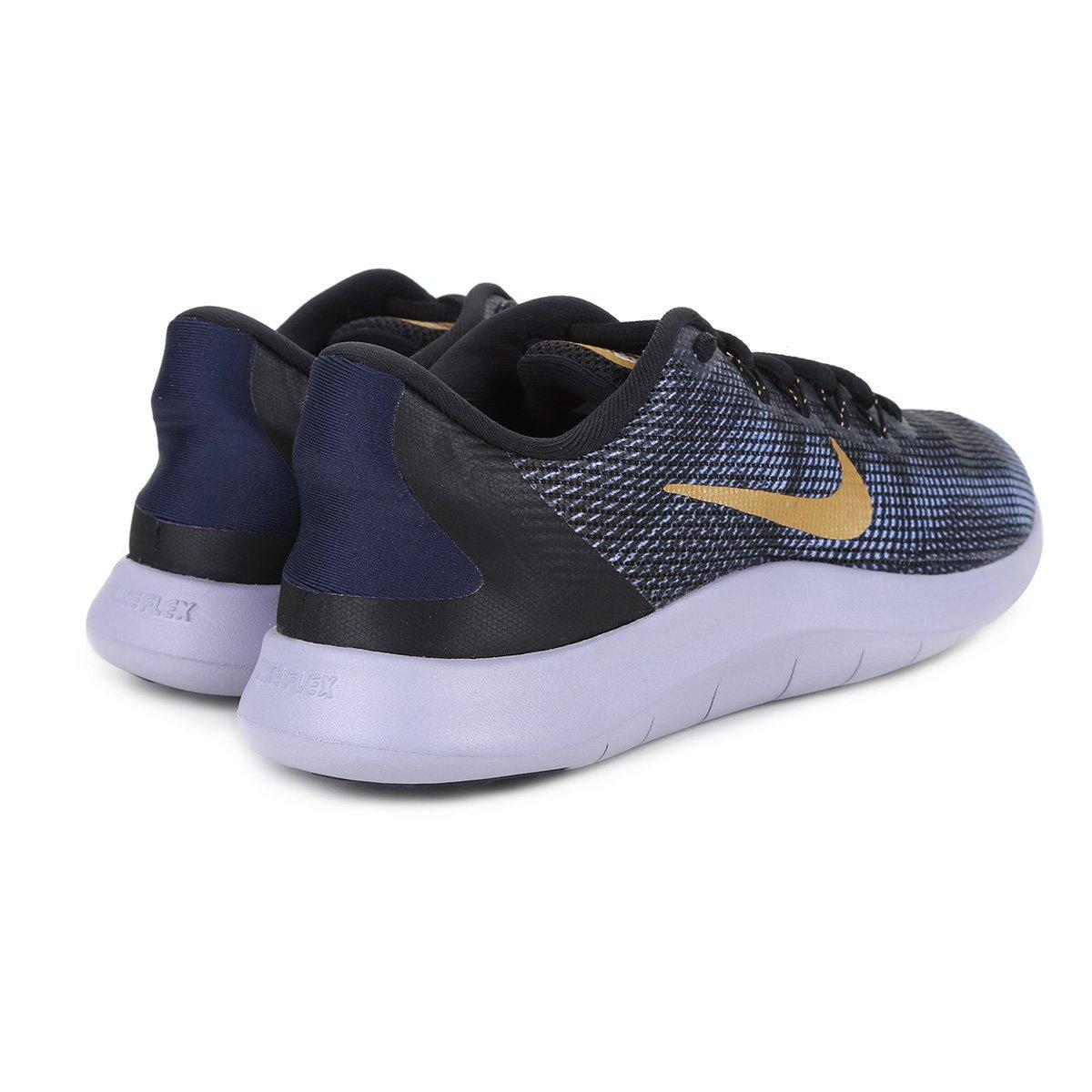 ... Tênis Nike Wmns Flex 2018 Rn Feminino - Preto e Dourado - Compre . 7f182da2a33d2