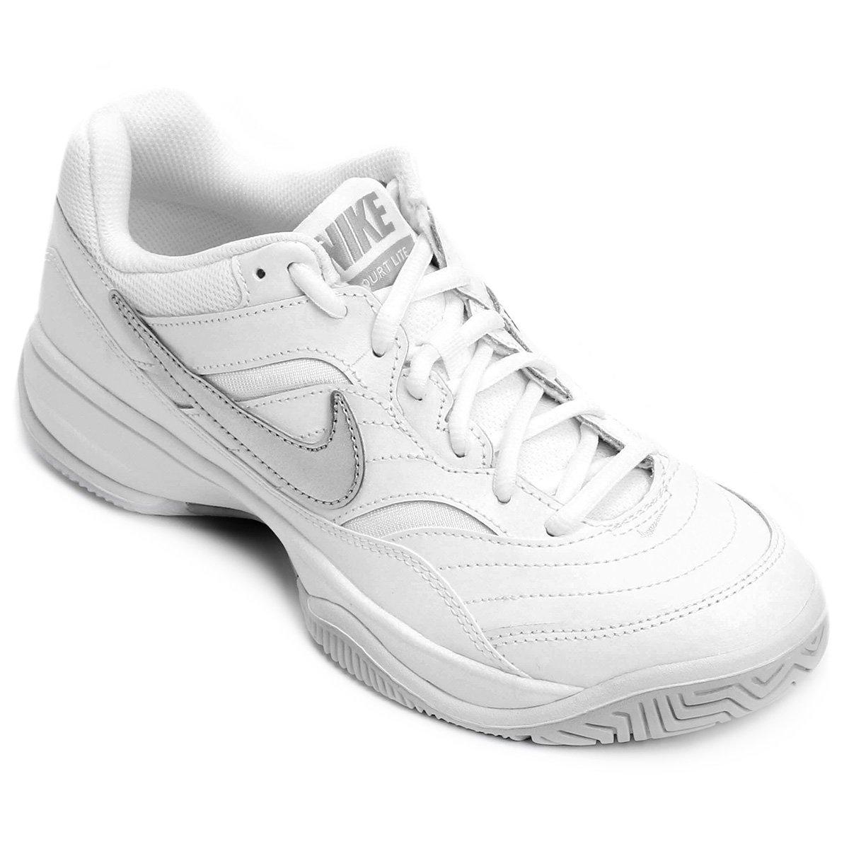 e6b3e1caca Tênis Nike Wmns Nike Court Lite Feminino - Branco e prata - Compre Agora