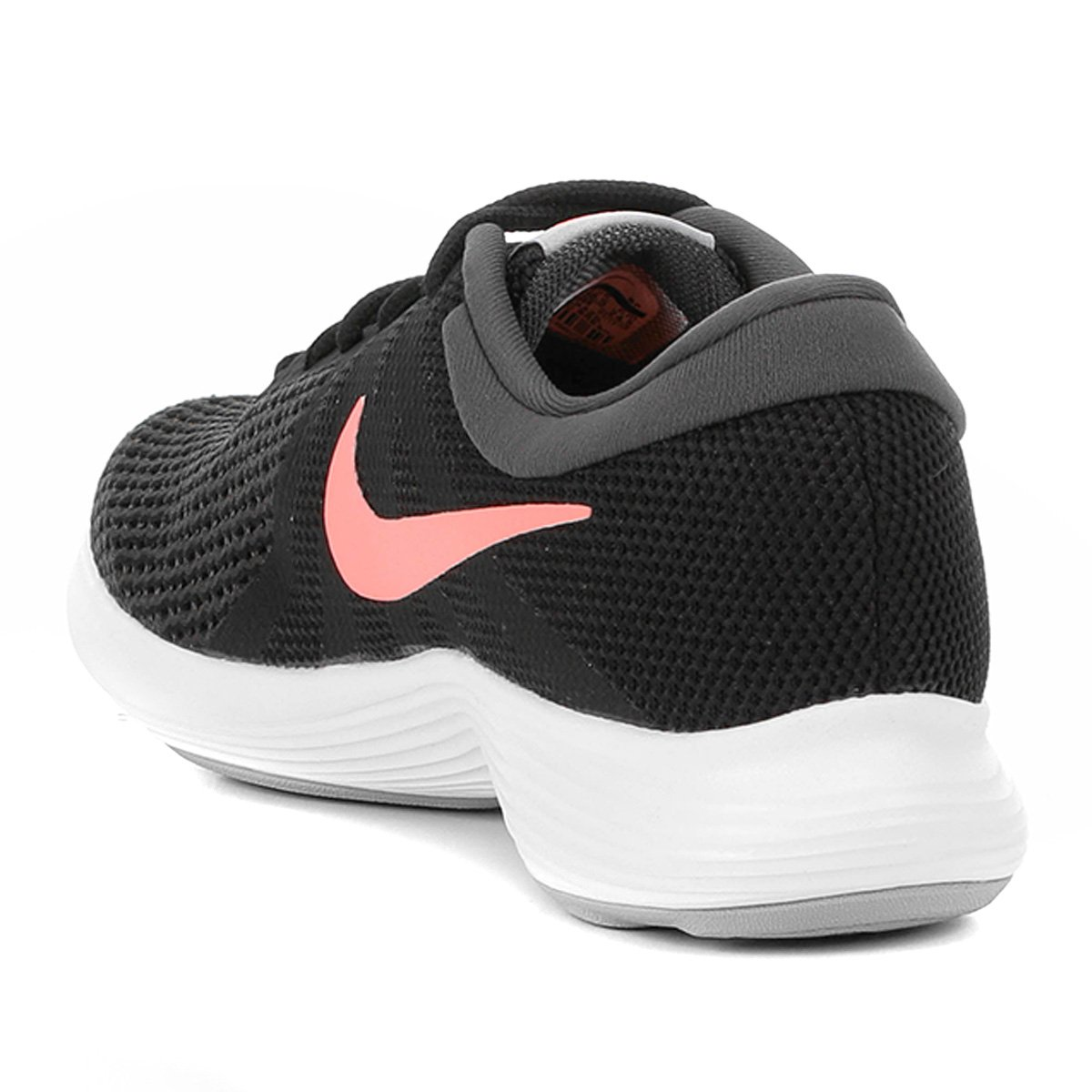 Tênis Nike Wmns Revolution 4 Feminino - Preto e Salmão - Compre ... 1d377a039e986