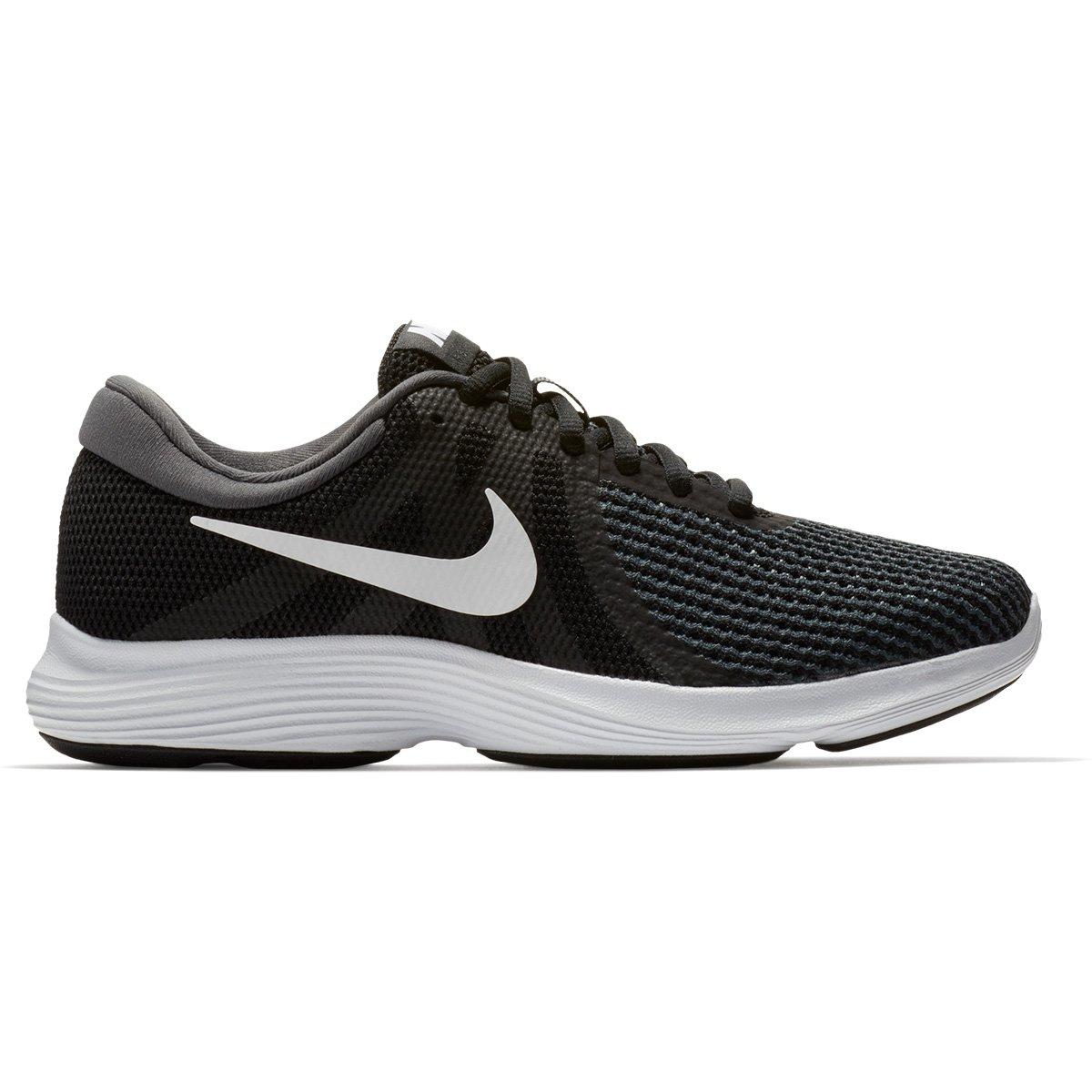 Tênis Nike Wmns Revolution 4 Feminino - Preto e Branco - Compre ... eb0b4857aef9c