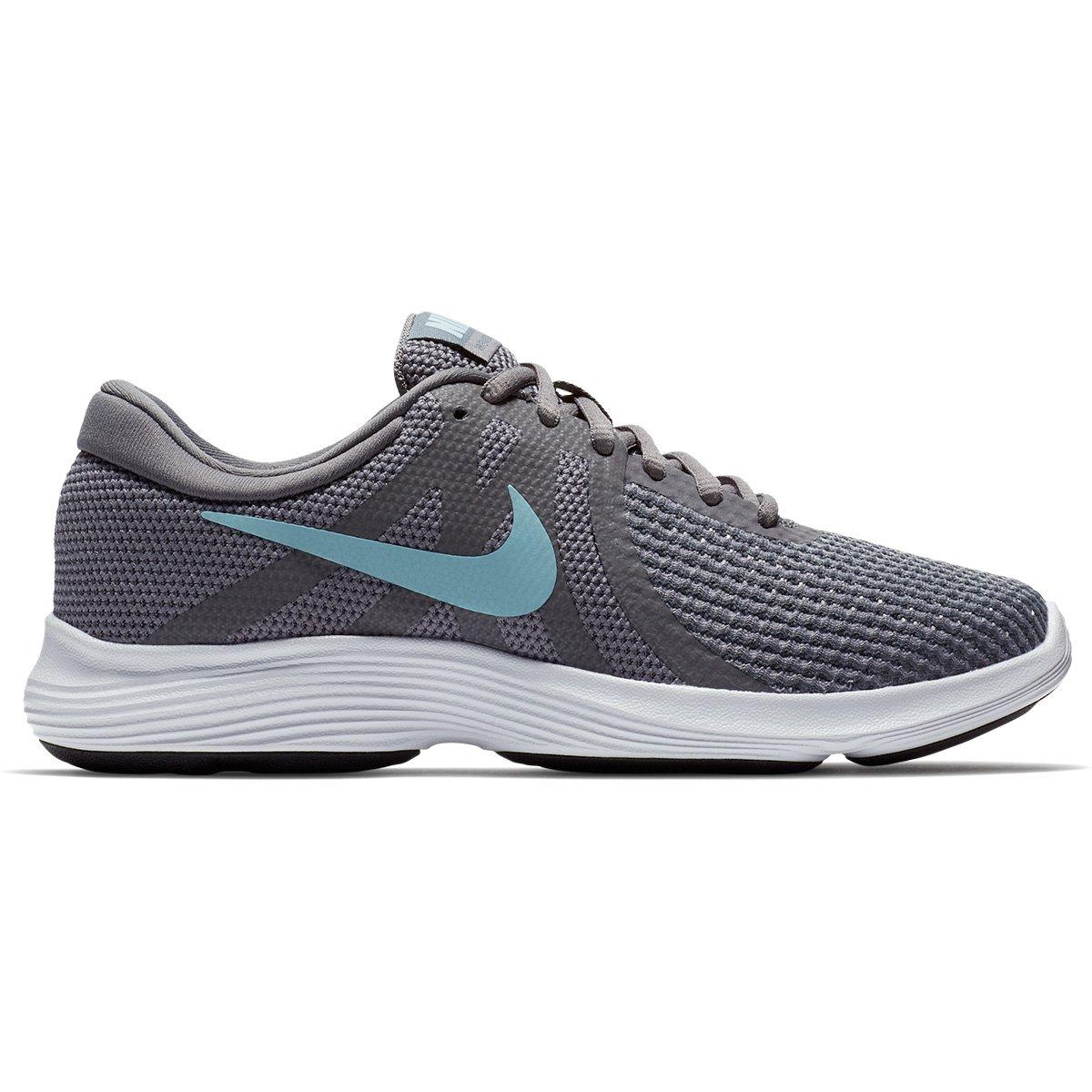 8ce8a283add Tênis Nike Wmns Revolution 4 Feminino - Cinza e Azul - Compre Agora ...
