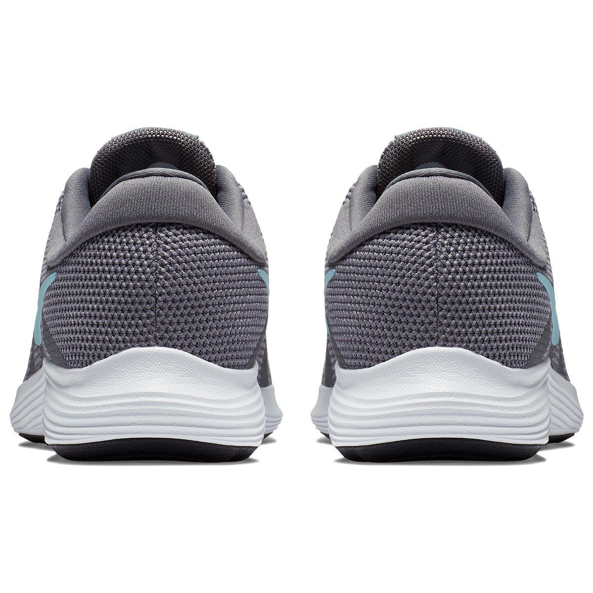 Tênis Nike Wmns Revolution 4 Feminino - Cinza e Azul - Compre Agora ... 71b8cd3cdfea0