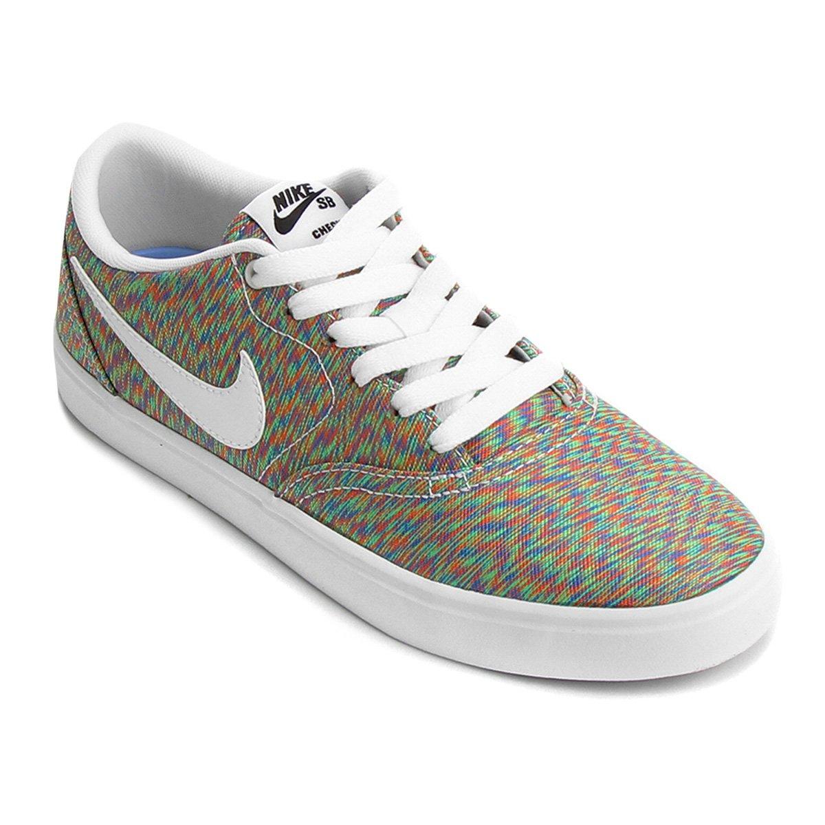 Tênis Nike Wmns Sb Check Solar Cvs P Feminino - Verde e Azul ... 0ec8f48db6cfe