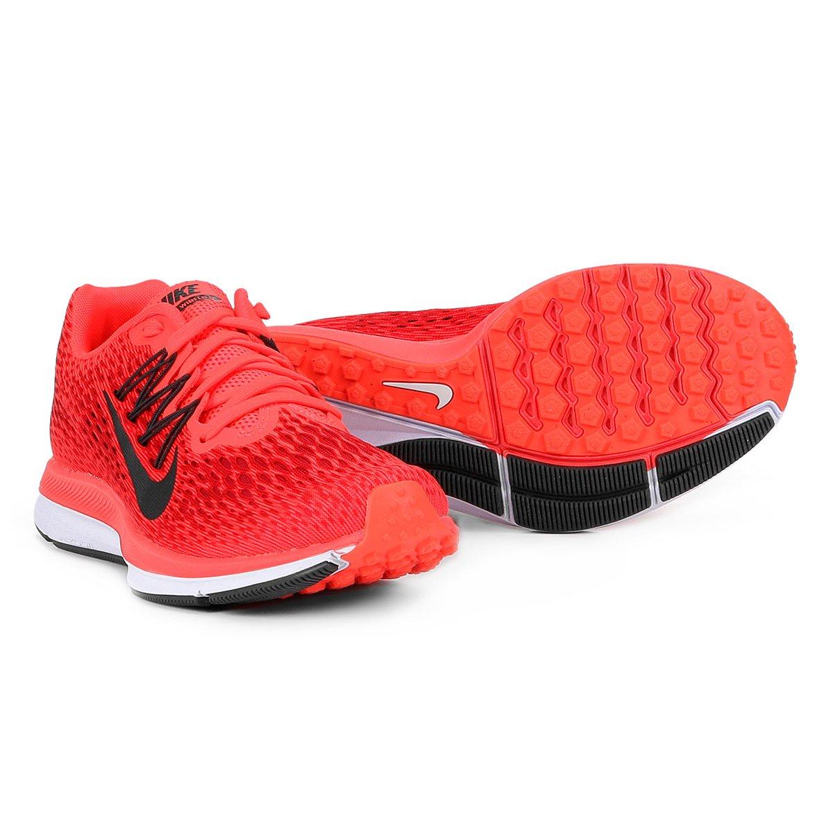 03b46bdd8bfbb Tênis Nike WMNS Zoom Winflo 5 Feminino - Vermelho - Compre Agora ...