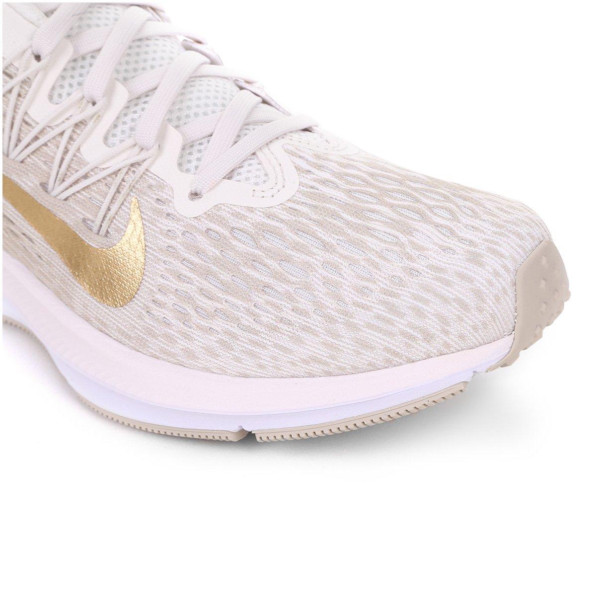 ... Tênis Nike WMNS Zoom Winflo 5 Feminino - Bege e Dourado - Compre . ff694c6df76a5
