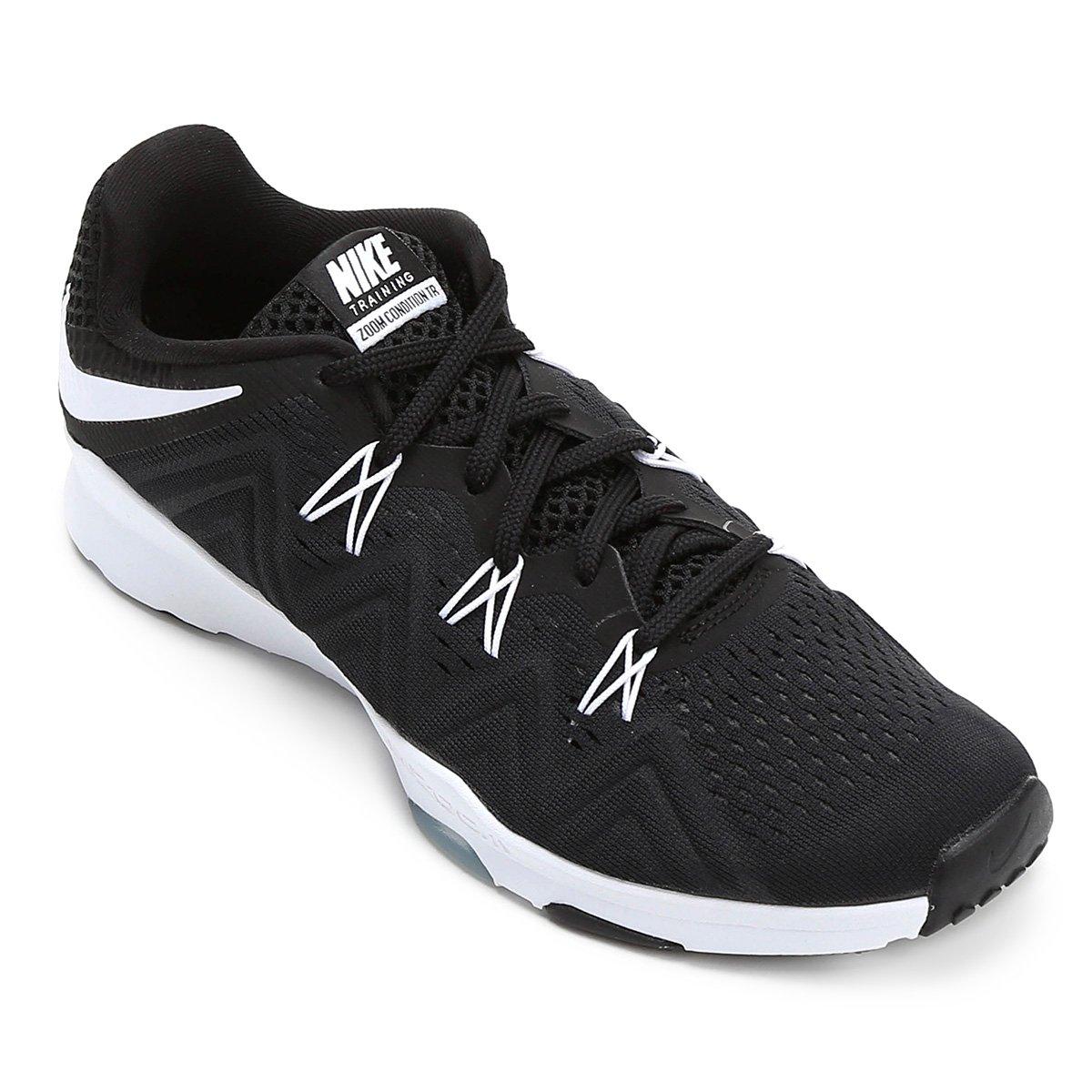 21ffb4dffc68a Tênis Nike Zoom Condition TR Feminino - Preto e Branco - Compre Agora