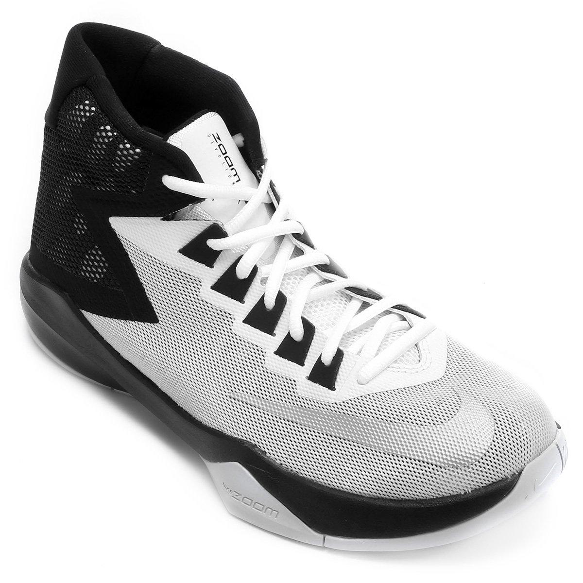 9286c866bb85a ... 70ede000c7a Tênis Nike Zoom Devosion - Branco e prata - Compre Agora  Netshoes ...