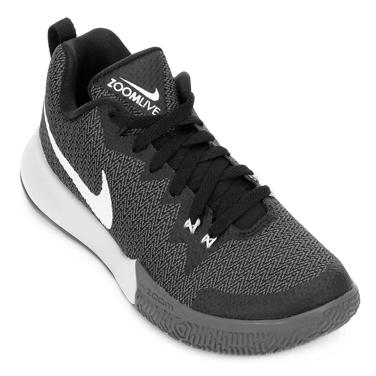 Masculino Preto II Tênis Nike Tênis Zoom Live Cinza e Nike Zoom 8nSBqn1x