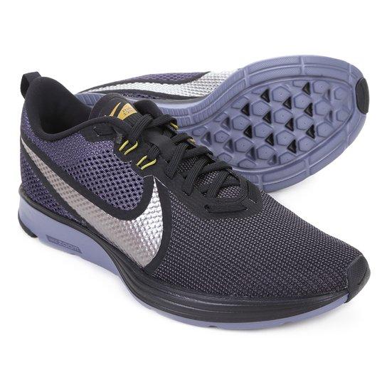 Tênis Nike Zoom Strike 2 Masculino - Preto+Prata