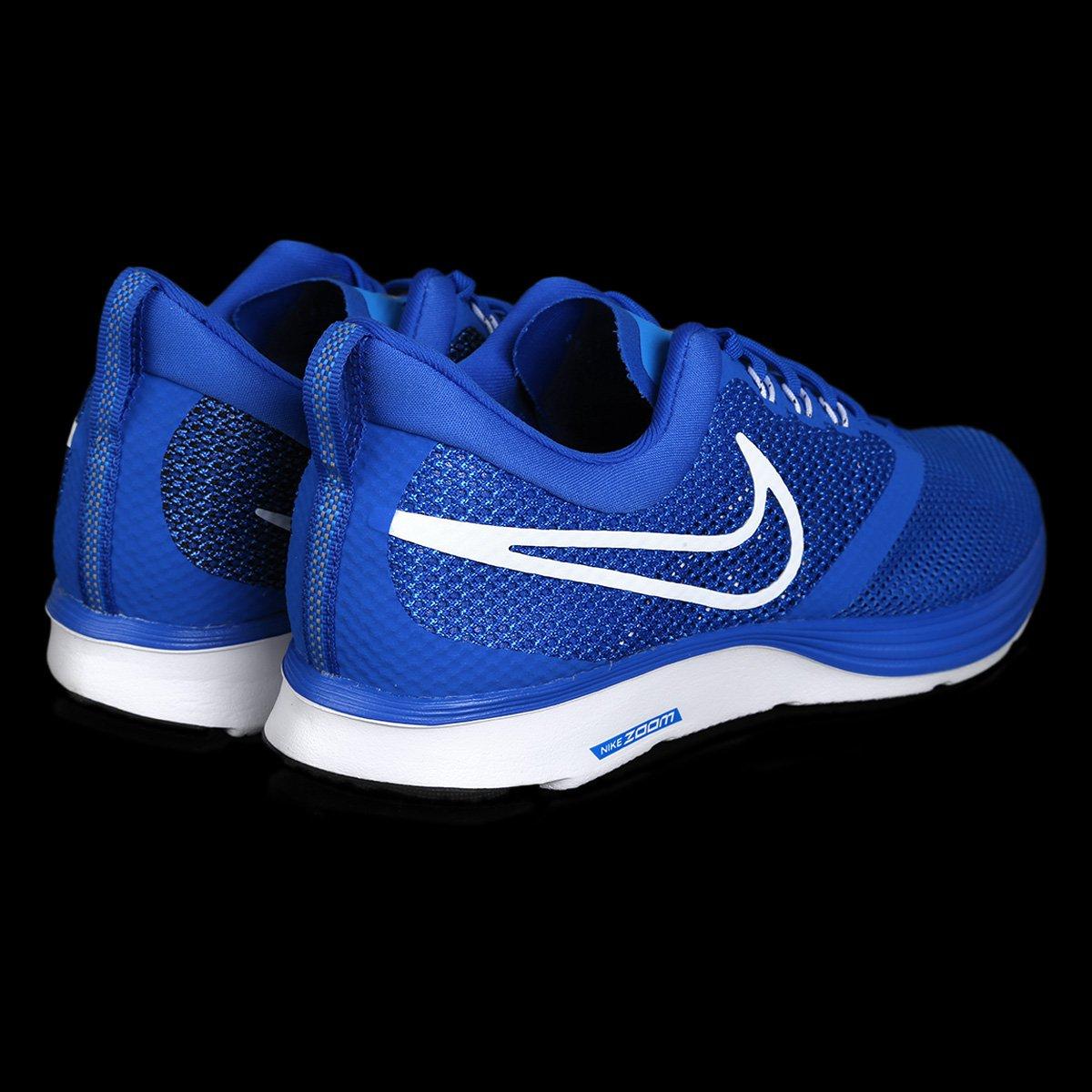 7369738215 Tênis Nike Zoom Strike Masculino - Azul e Branco - Compre Agora ...