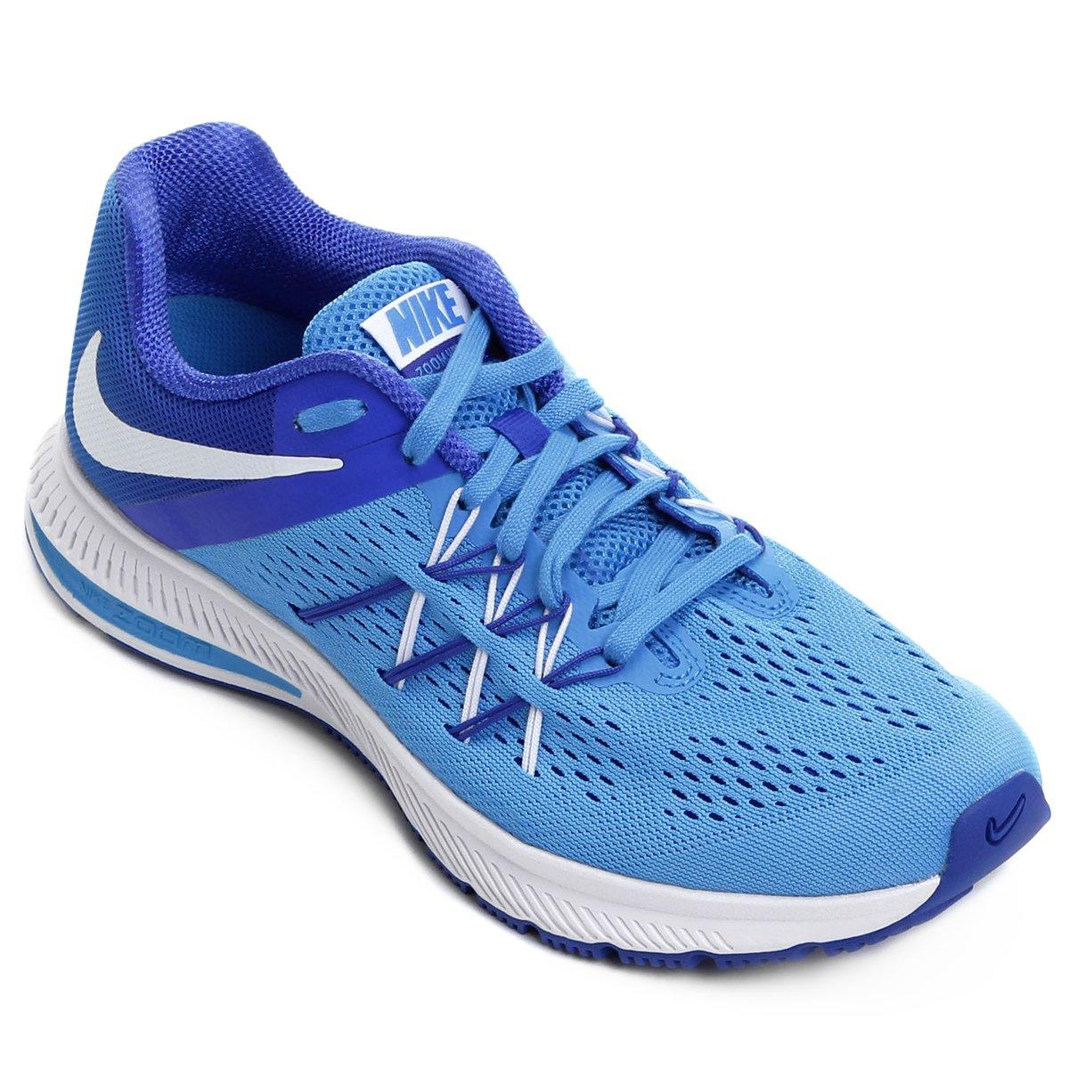 529da731091d8 ... official store o produto tênis nike zoom winflo 3 feminino azul e  branco acabou. c3879 ...