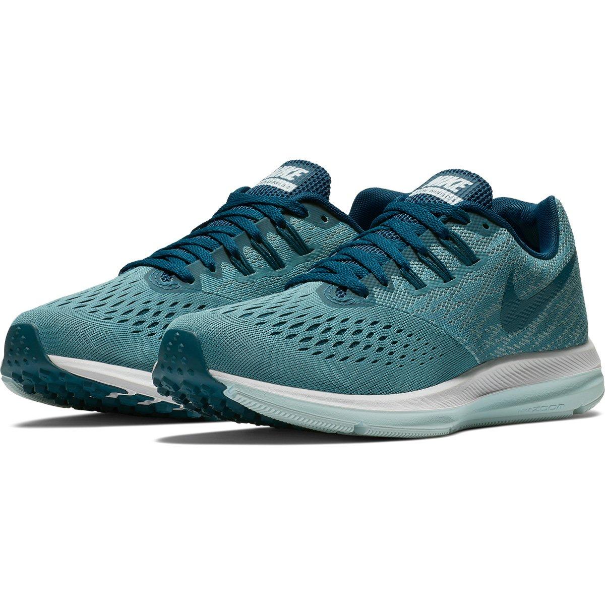 Tênis Nike Zoom Winflo 4 Feminino - Azul e Verde Água - Compre Agora ... 91fb391df7f72
