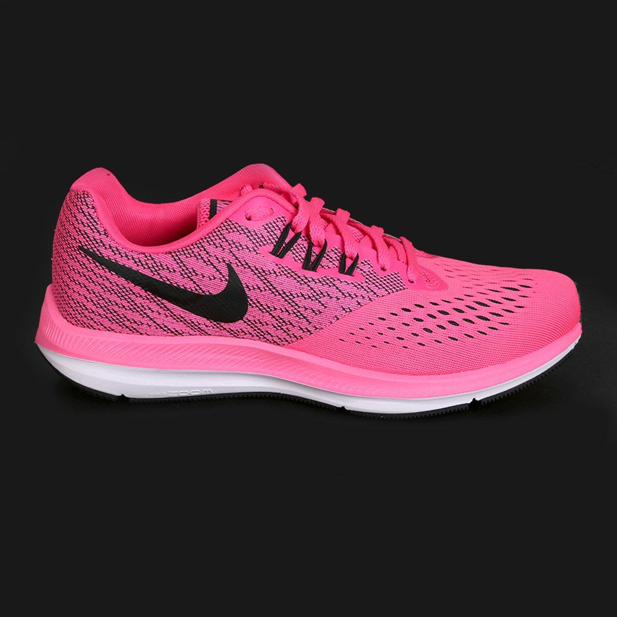 e9d2e750f0 ... Tênis Nike Zoom Winflo 4 Feminino - Rosa e Preto - Compre Agora .
