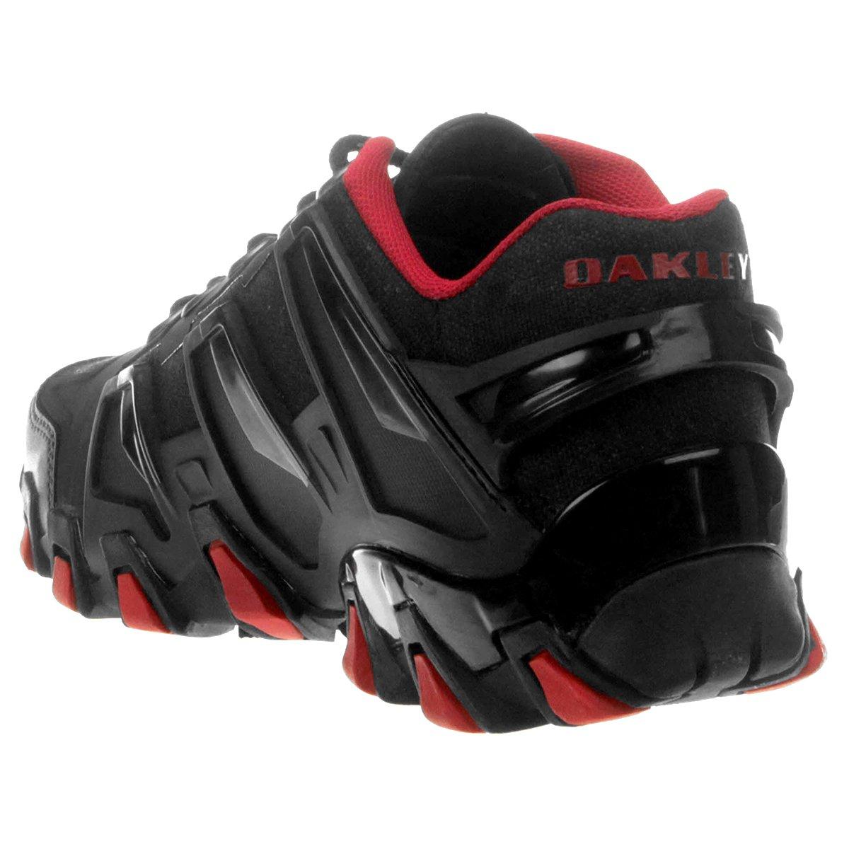 Tênis Oakley Hardshell - Preto e Vermelho - Compre Agora   Netshoes 05117e4064