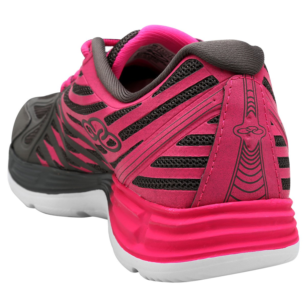 Tênis Olympikus Flix 2 Feminino - Chumbo e Pink - Compre Agora ... 8b0afc71ae06b