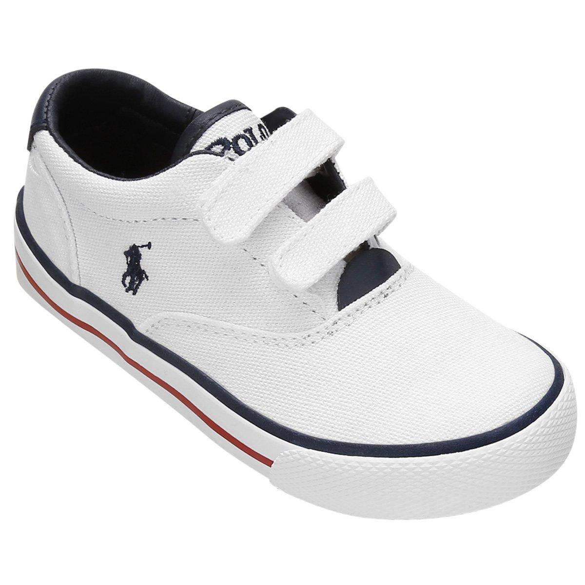 364b41e058400 Tênis Polo Ralph Lauren Vaughn EZ Canvas Infantil - Compre Agora ...