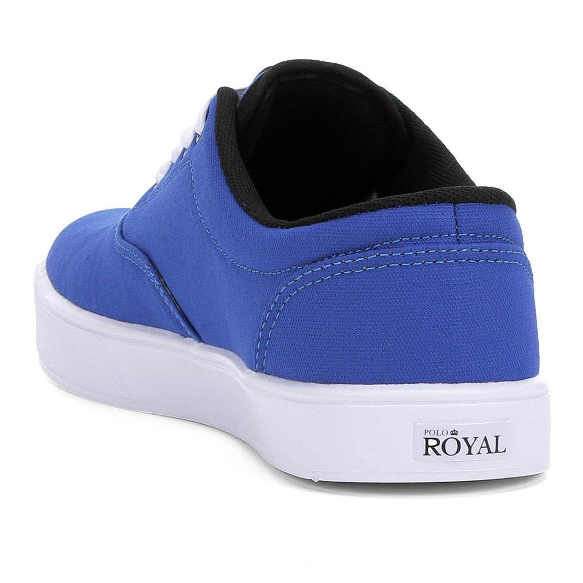 Tênis Tênis Polo Lona Royal Azul Royal Masculino Polo Montecar 4U7qv4w