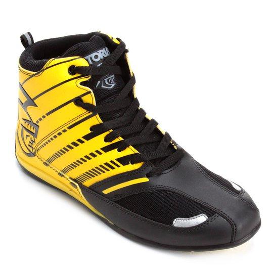 Tênis Pretorian Striker Masculino - Preto+Amarelo