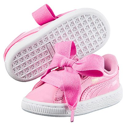 147156031a6 Tênis Puma Basket Heart Patent Ps Infantil - Compre Agora