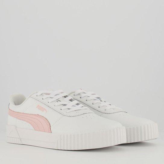 Tênis Puma Carina Lux Bdp Feminino - Off white+Rosa