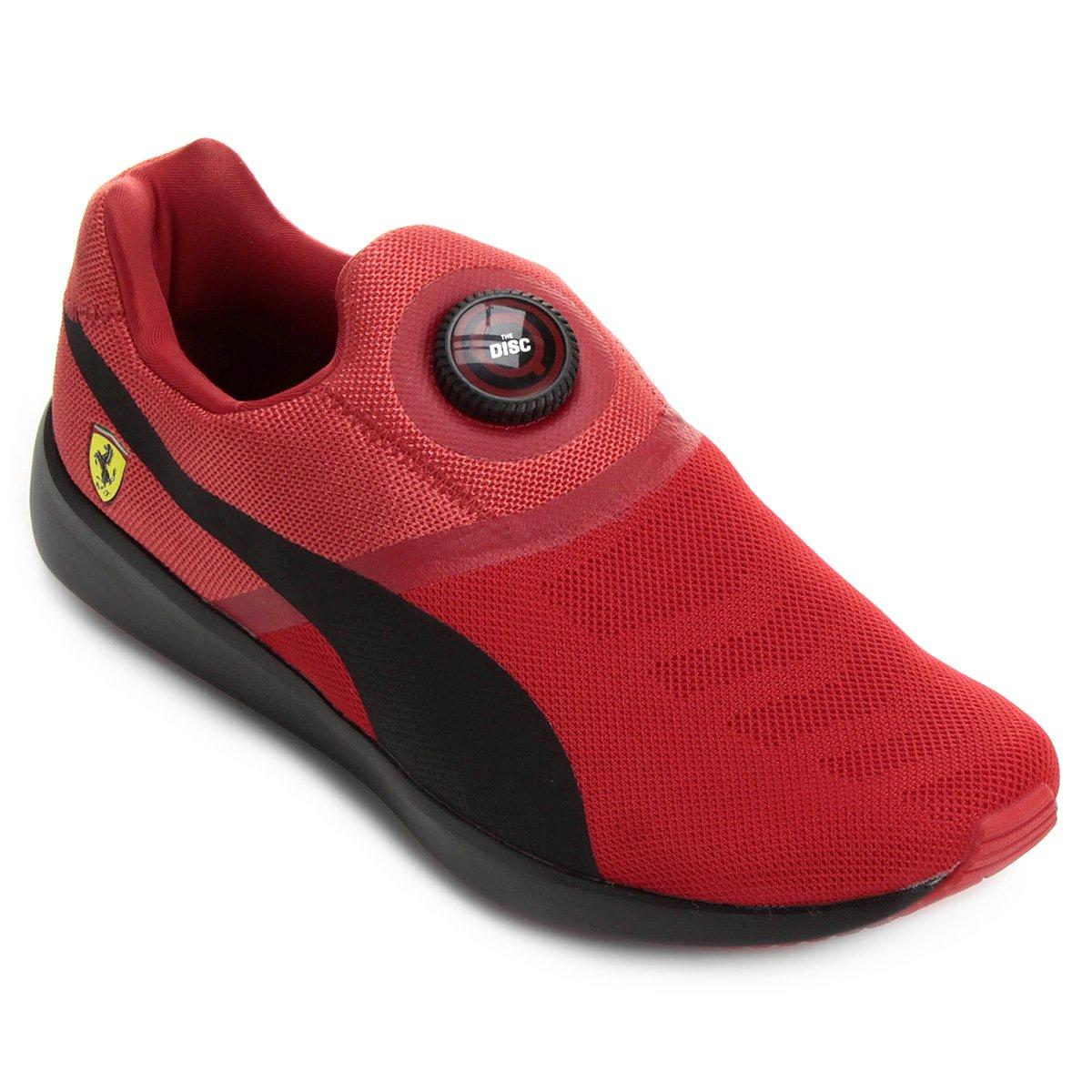 Tênis Puma Disc Scuderia Ferrari Masculino - Vermelho e Preto ... dbdd165cad06b