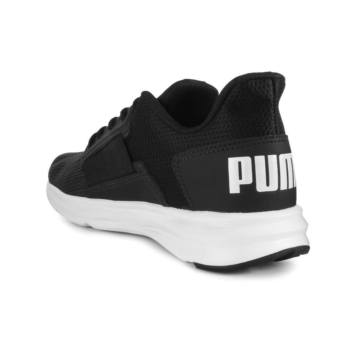 ea8af663cc Tênis Puma Enzo Street Masculino - Preto e Branco - Compre Agora ...