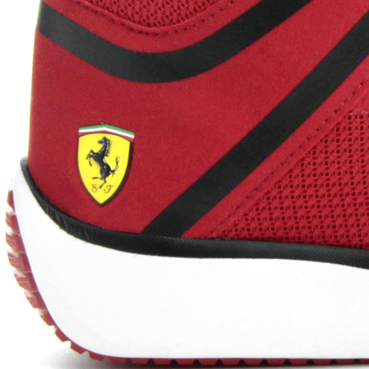 Ferrari F116 Tênis Preto e Vermelho Scuderia Puma Skin Mid Masculino XqXwr5a