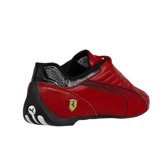 Tênis Puma Ferrari Race Future Kart Cat Masculino - Vermelho e Preto - Vermelho+Preto