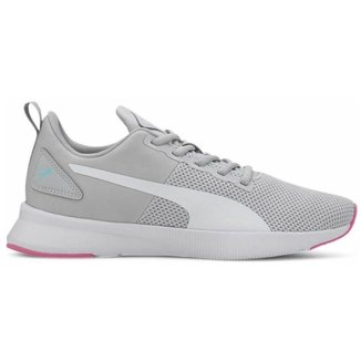 Tenis Puma Flyer Runner Cinza+rosa