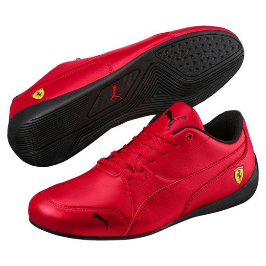 Tênis Puma Scuderia Ferrari Drift Cat 7 Masculino - Vermelho+Cinza