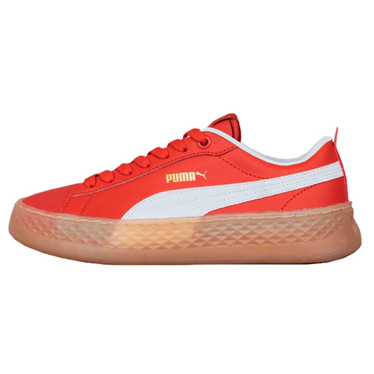 tenis puma vermelho feminino