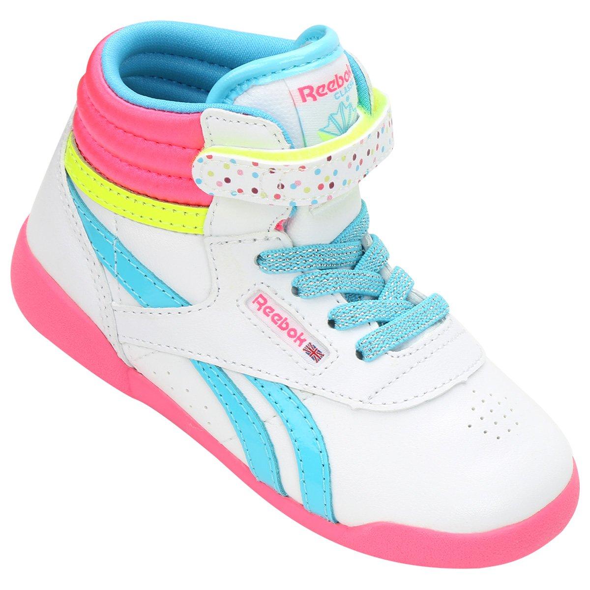 533d8fb4e16 Tênis Reebok Freestyle Hi Bday I Infantil - Compre Agora