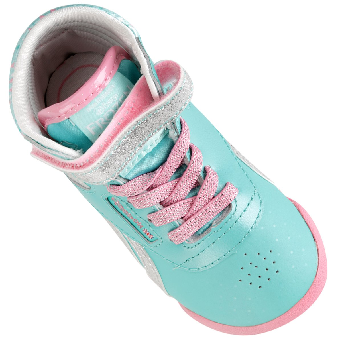 773de9ff6ea ... Tênis Reebok Frozen F S Hi Infantil - Verde Claro+Rosa. COLLECTION