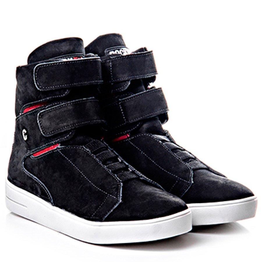 AltoCom Rock Tênis Em Velcro Fechamento Fit Cano Sneaker Preto wIdqdSr