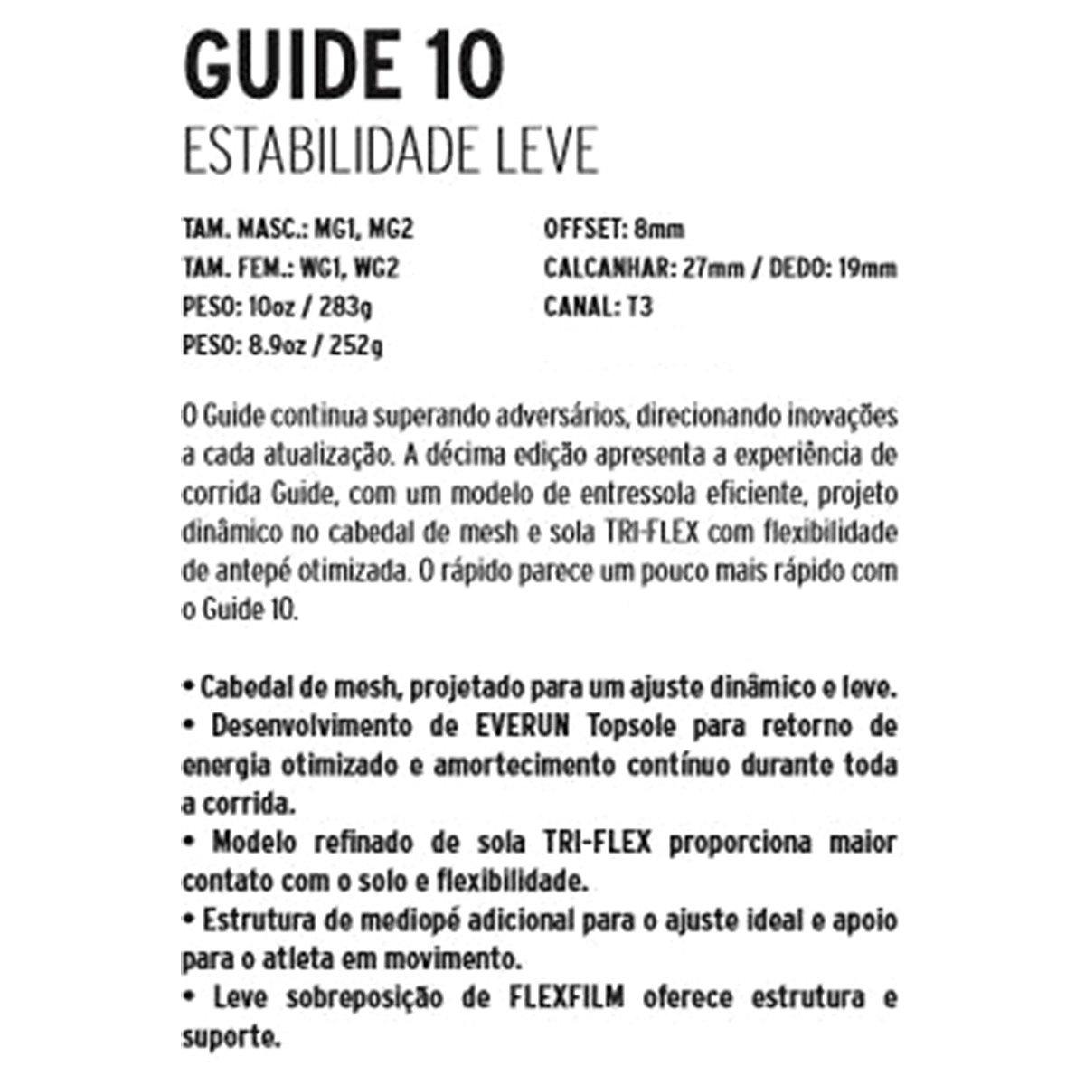 Masculino Preto Verde e Masculino Tênis Limão Saucony Tênis Guide Verde 10 Guide Saucony 10 ROSIq