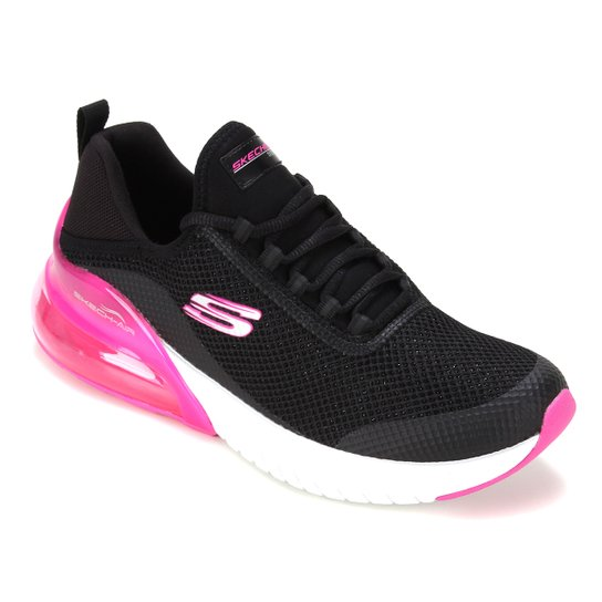 Tênis Skechers Air Stratus Sparkling Wind Feminino - Preto+Pink