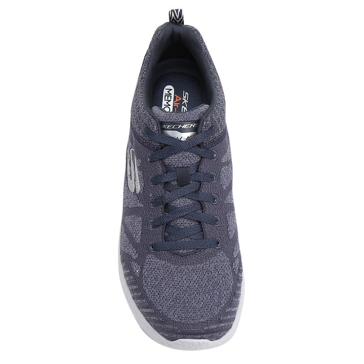 Tênis Skechers Burst Deal Closer Masculino - Azul Escuro - Compre ... 31b0c1ce13d47