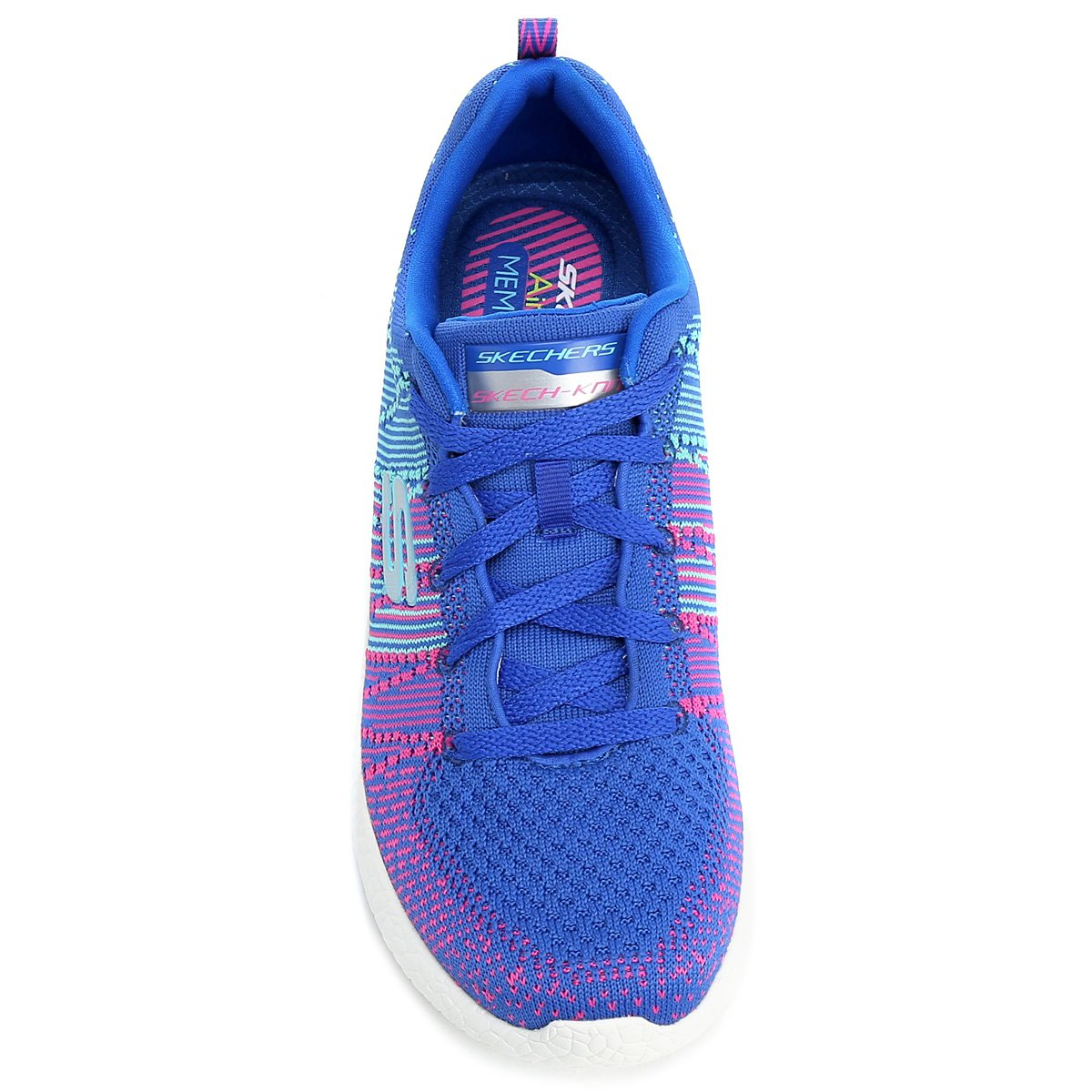 Tênis Skechers Burst Ellipse Feminino - Azul Turquesa e Pink ... d6333f1116fd4