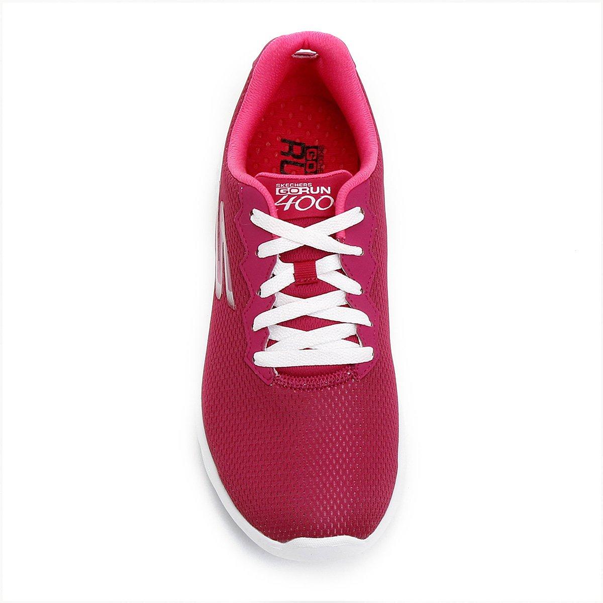 eee7b02417 Tênis Skechers Go Run 400 Feminino - Rosa Escuro - Compre Agora ...