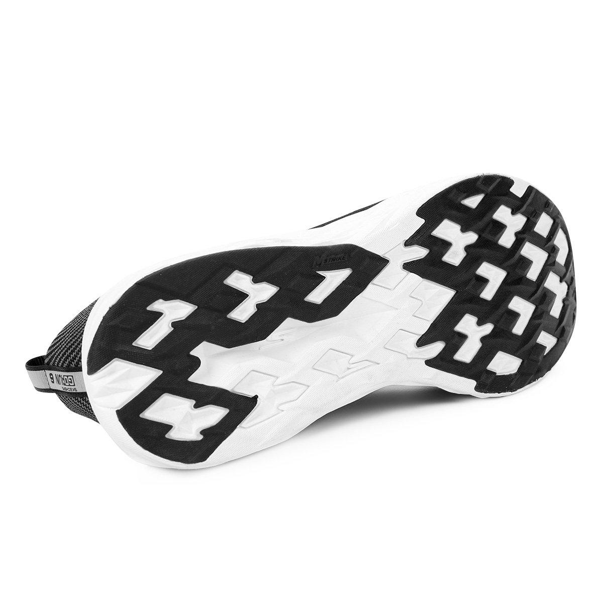 1dd3a72e20 ... Tênis Skechers Go Run 6 Masculino - Preto e Branco - Compre Agora .