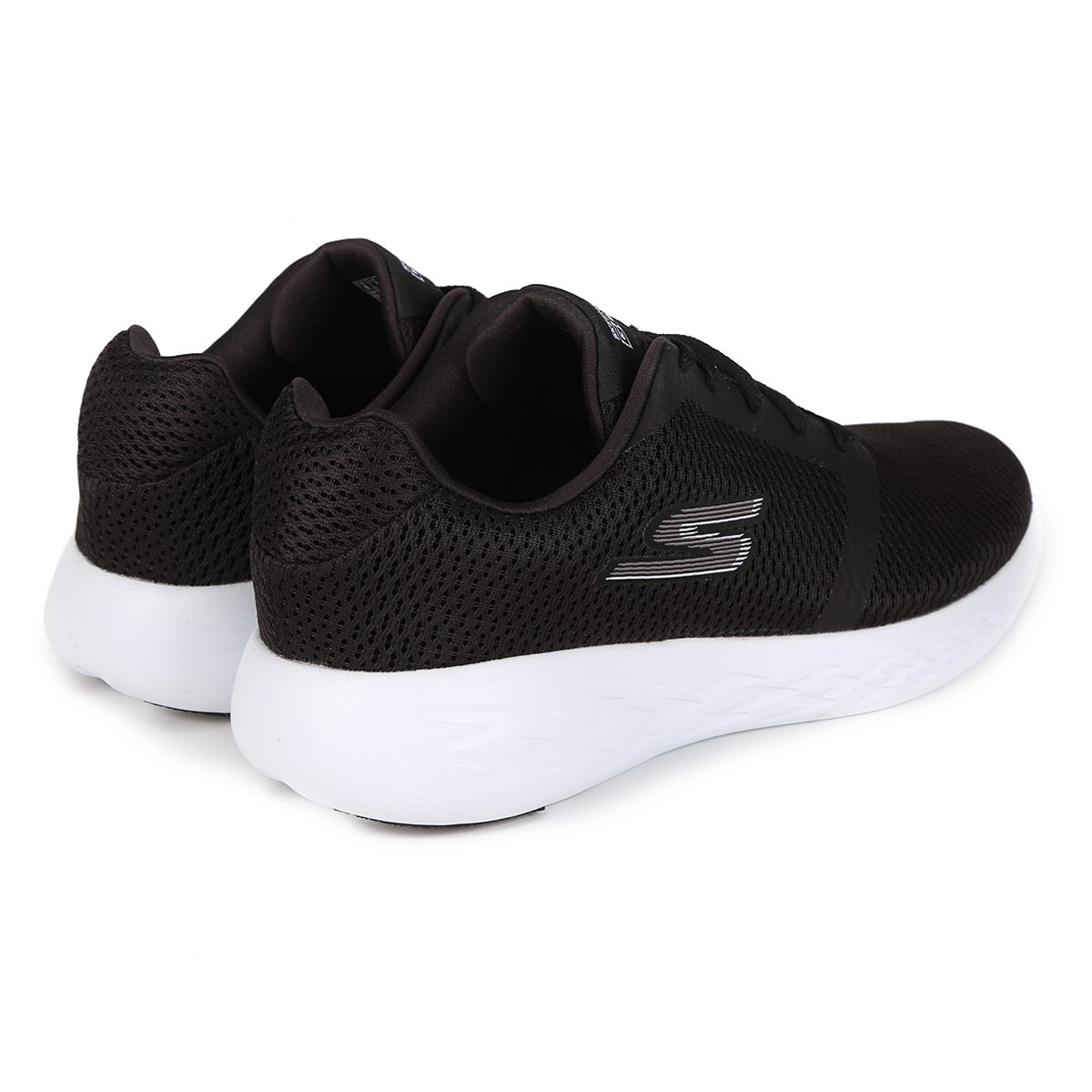 92243a0d68 Tênis Skechers Go Run 600 Refine Masculino - Preto e Branco - Compre ...