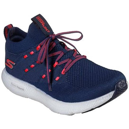 Tênis Skechers Go Run 7 Feminino - Azul Royal+Rosa