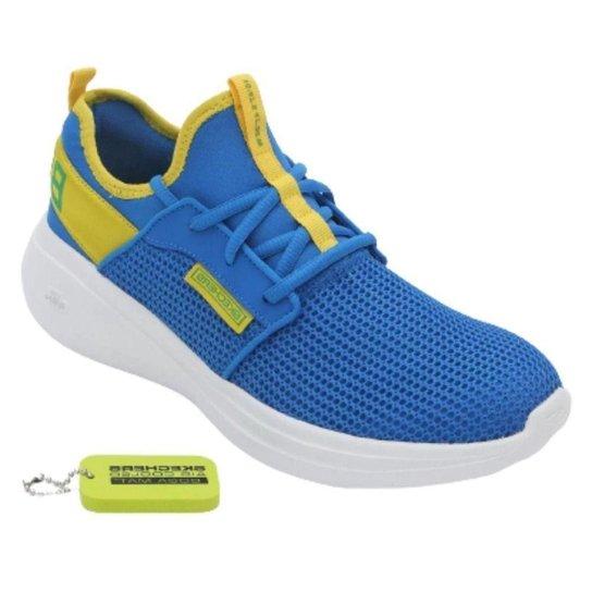 Tênis Skechers Go Run Fast  Valor Feminino - Azul+amarelo
