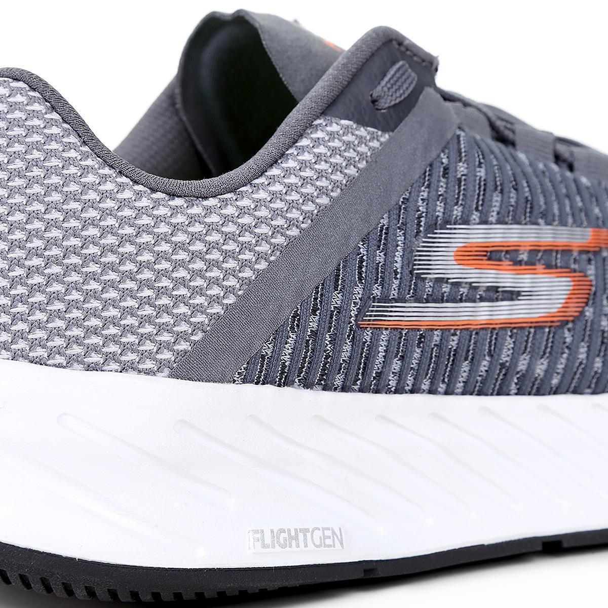 Tênis Masculino Go Cinza 3 e Laranja Skechers Run Forza zwzZFarq