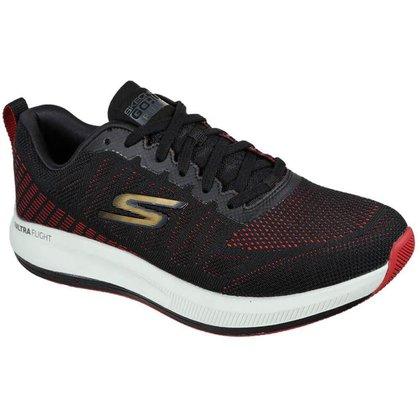Tênis Skechers Go Run Pulse - Strada Masculino - Preto / Vermelho 41