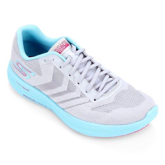 Tênis Skechers Go Run Razor+ Feminino - Cinza+Azul
