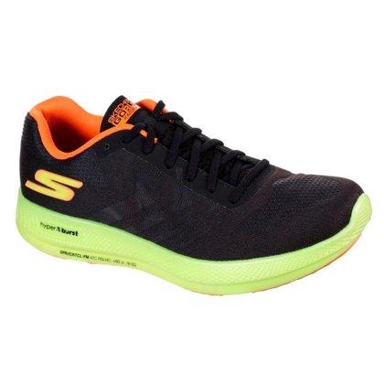 Tênis Skechers Go Run Razor + Plus Feminino - Preto / Amarelo 38