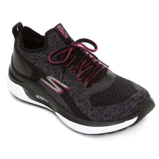 Tênis Skechers Go Run Steady Feminino - Preto+Pink