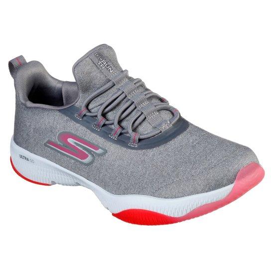 Tênis Skechers Go Run Tr- Exception Feminino - Cinza+Pink